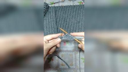斜纹花围巾教程