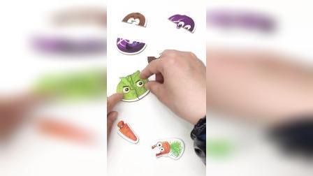 水果蔬菜拼拼乐,一起来看玩拼图
