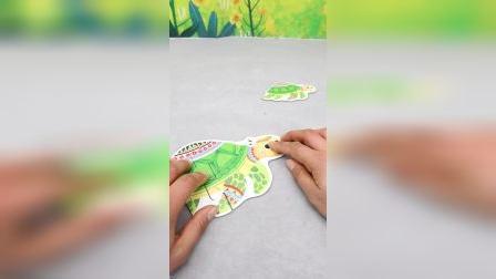 海龟简易儿童益智拼图