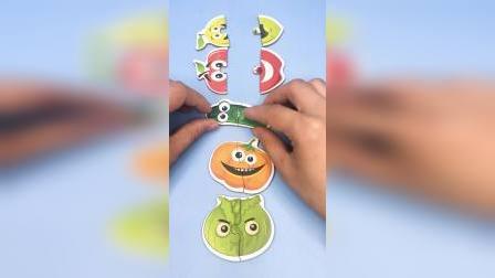 组队拼图水果玩具