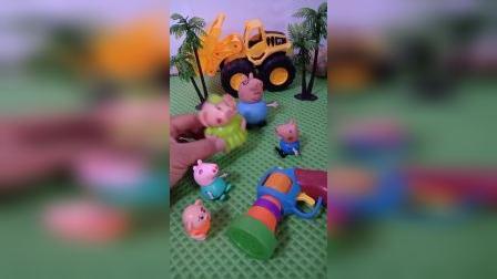 冒牌的猪爸爸和猪妈妈来了,乔治能认出冒牌货吗?