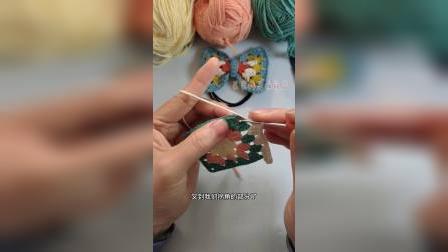 2段蝴蝶结发圈祖母格发卡发饰制作图解教程分享