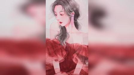 仙女裙 #水彩