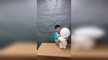 雪人气球造型,您觉得可爱吗?