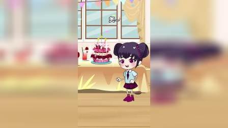 贝尔的生日蛋糕被偷吃了