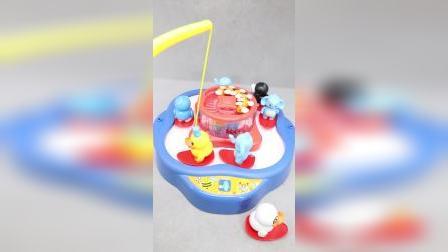 磁性双层糖果鸭钓鱼玩具