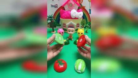 儿童玩具:水果大拼接