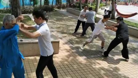 董伟昌老师学员揉手训练