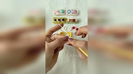 手工民族风刺绣花朵图案发夹钩织教程如需要材料淘宝同名账号购买