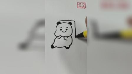 躺在沙发上的小熊猫