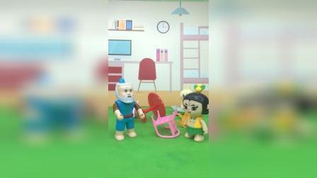 葫芦娃这是干什么呢,怎么把家具都给弄坏了