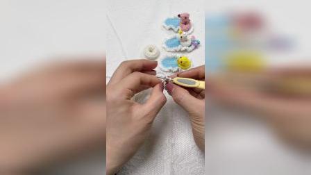 手工钩织小黄鸭火烈鸟独角兽发夹制作教程淘宝同名账号