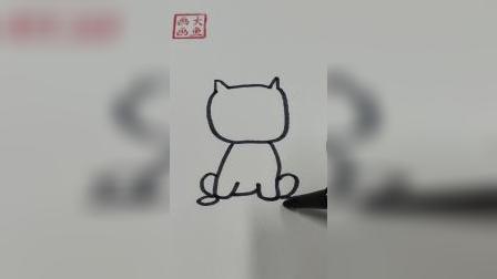 画一只乖巧的小猫