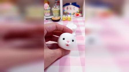 超轻粘土做的可爱的小兔子