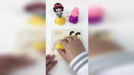 瓢虫简易拼图,动物益智拼图玩具