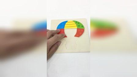 木质拼图玩具,热气球拼拼乐