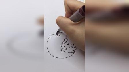 小兔子偷吃苹果了#简笔画