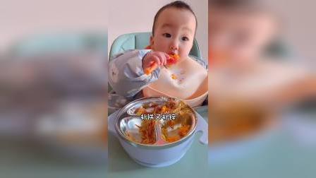 宝宝版蛋黄焗南瓜、软糯香甜!