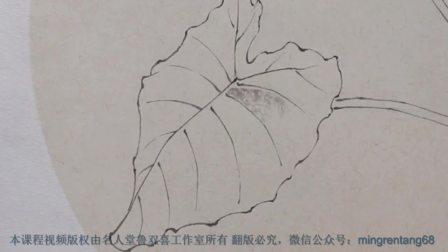 双喜老师画《清露沐芳华》