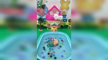 益智玩具:猪妈妈洗澡澡