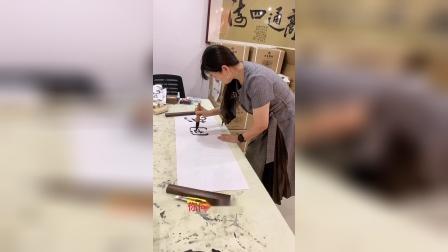 梨园春金奖霸主王光姣为《花开山乡》题字