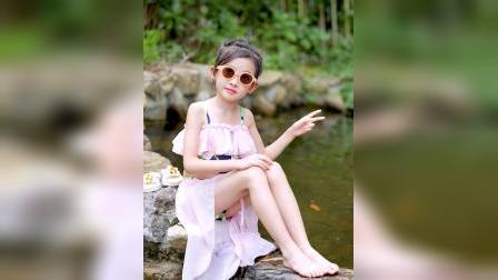 君晓天云儿童泳衣女女童泳衣两件式中大童公主裙式可爱韩国比基尼ins风泳装