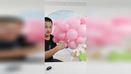 气球布置教程 67 爱心  立体小爱心   气球培训教程 气球装饰 街卖造型 临沂气球培训 气球小王子文德明