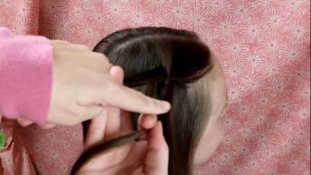 十字瀑布扭辫发型