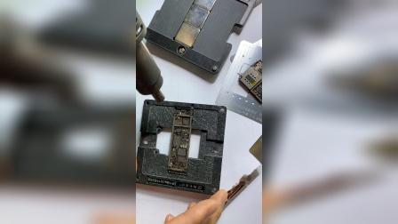 阿毛易修iPhone11/Pro/Max中层植锡台印刷锡膏和直接加热两种方式植锡办法