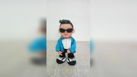 江南·style唱歌跳舞鸟叔创意电动玩具