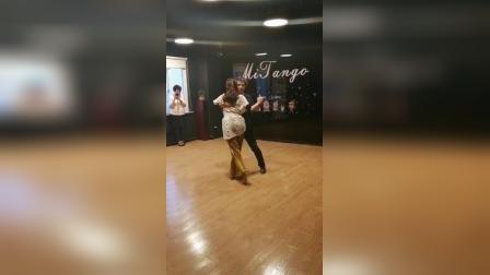 上海阿根廷探戈学生舞步演示,volcada+gancho#阿根廷探戈##阿根廷探戈mitango#