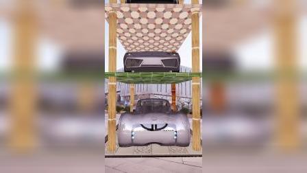 地下车库模型制作特效视频动画合成AE