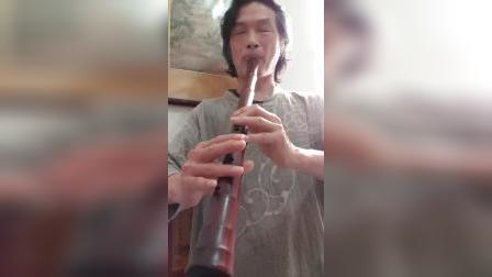 寒山僧蹤+二泉映月~文松手製小葉紫檀經典型F調簫