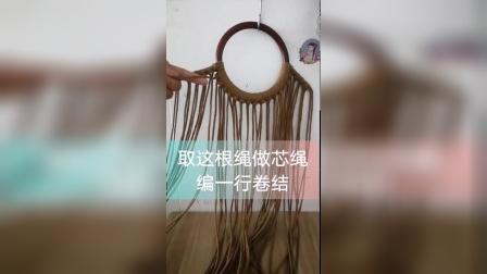 咖色花朵手提包 编织教程 第一集_高清