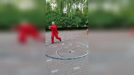 八卦掌名家董孝纯演示中国武术八卦掌段位拳(二段)