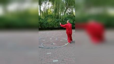 八卦掌名家董孝纯演示中国武术八卦掌段位拳(一段)