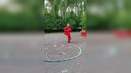 八卦掌名家董孝纯演示中国武术八卦掌段位拳(四段)