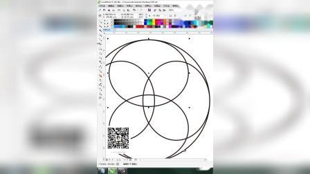 CDR教程平面标志圆形分割法