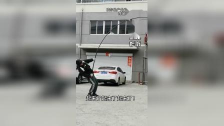 索尔伦可视锚鱼竿素材暴力测试,十公斤顶钓成功!.mp4