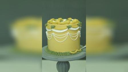 充满贵族气息的宫廷复古蛋糕,一起学起来