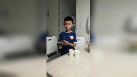 """延新一小三年级一班邹天阳""""果汁分你一半""""实验作品"""