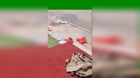 黑龙江佳木斯一女子从高楼上扔下数张百元大钞,引得市民不断惊呼