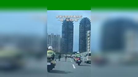 广东:两匹骡子大马路上狂奔近一个小时,骑警截停后一路保驾护航