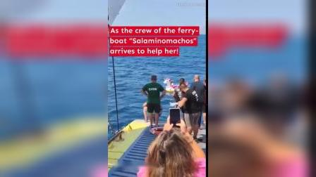 Little Girl Drifts Out to Sea in Inflatable Unicorn Rescued by Ferry