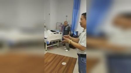 武汉中阳中医院肢体矫正中心病房传来祝福祖国的美妙歌声