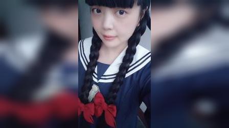 淘宝视频 买家秀2020秋季 海军风连衣裙