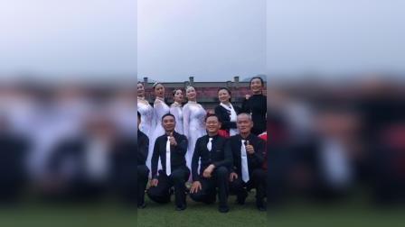 l荥经县体育舞蹈协会参加县第22个老年节文体活动留念
