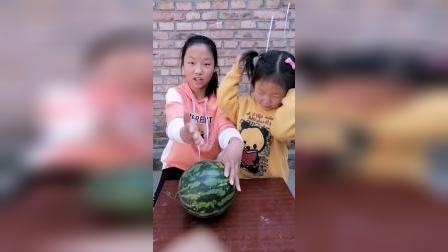 童年趣事:妹妹说想吃大西瓜