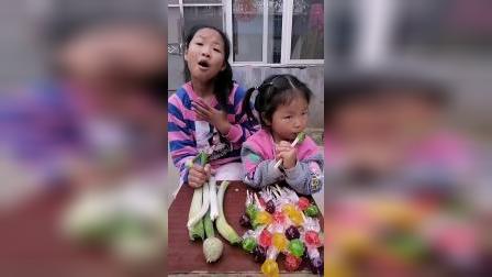 趣味童年:我只能吃大蒜,妹妹你还要来抢