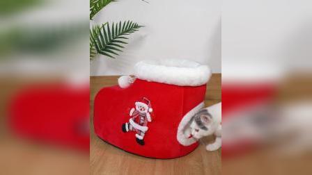 圣诞款猫窝 麋鹿款圣诞靴款